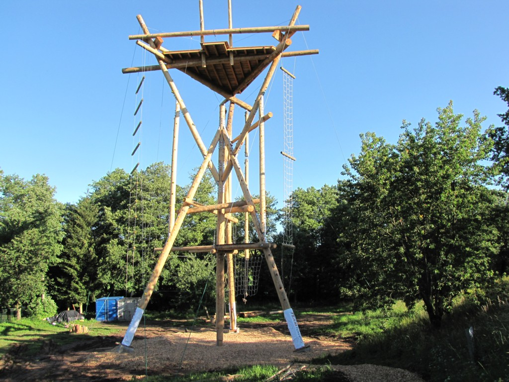 Der Team-Tower in Poppenhausen